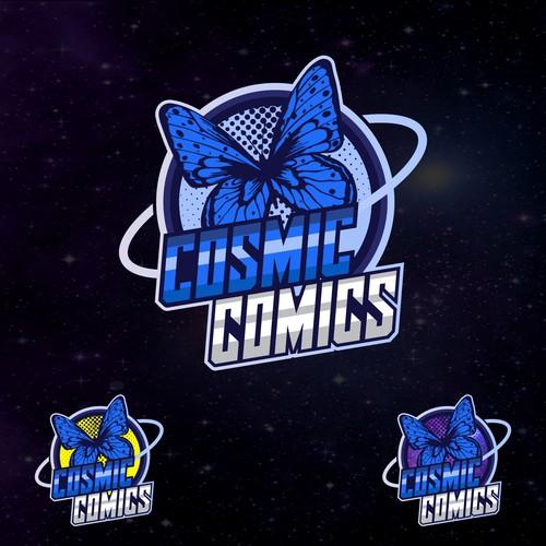 logo design cosmic comics