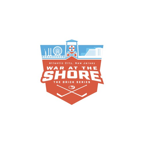 Dynamic sports logo for a New Jersey based Hockey Tournament