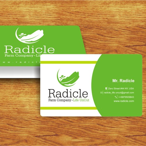Logo concept and business Card Radicle
