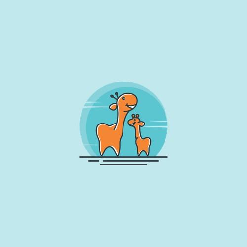 Laughing Giraffe Children's Dentistry Logo