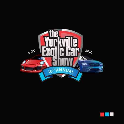 THE YORKVILLE EXOTIC CAR SHOW LOGO