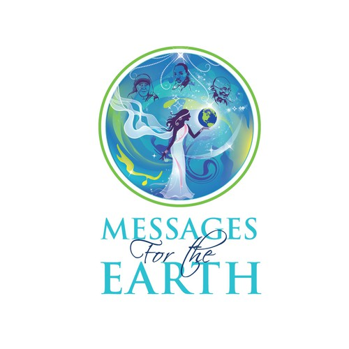 "logo design for  a project called ""Messages for the Earth""  to get some answers about  humanity and advices from famous people..."