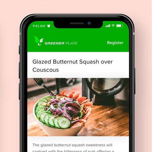Diet Food Mobile App