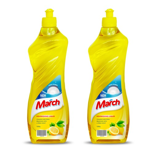 March Dishwashing Label March