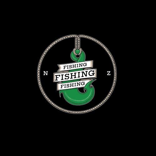 Logo for fishing gear store