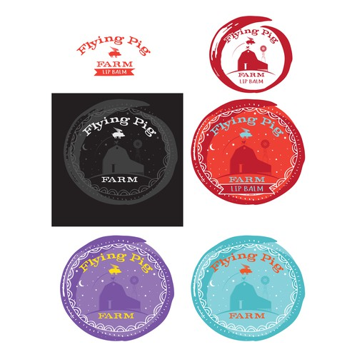 lid labels for lip balm.