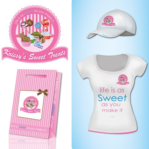 Create the next logo for Krissy's Sweet Treats