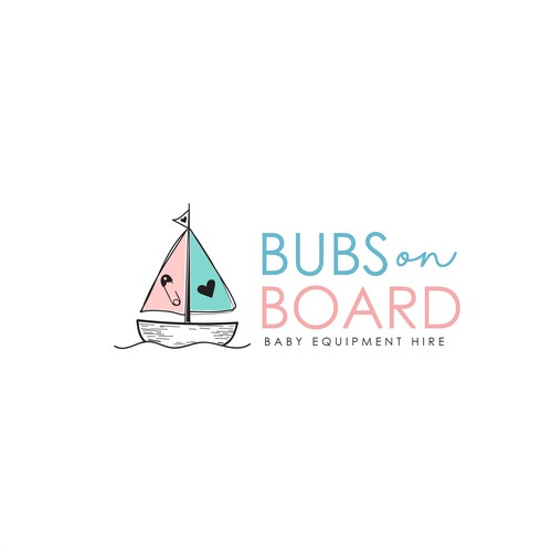 Baby equipmemt logo concept for travelling parents