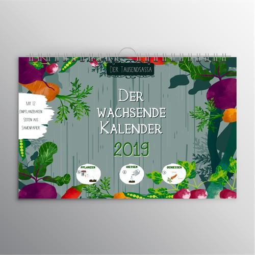 A Calendar cover design