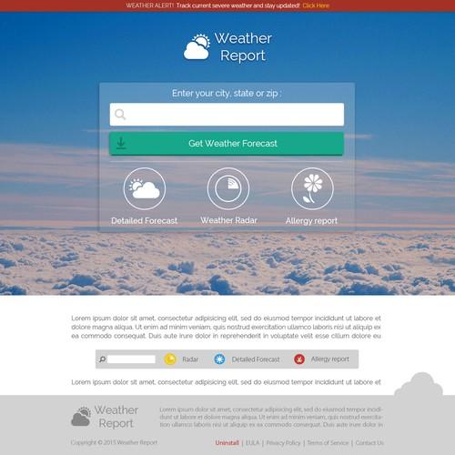 WeatherReport Landing page