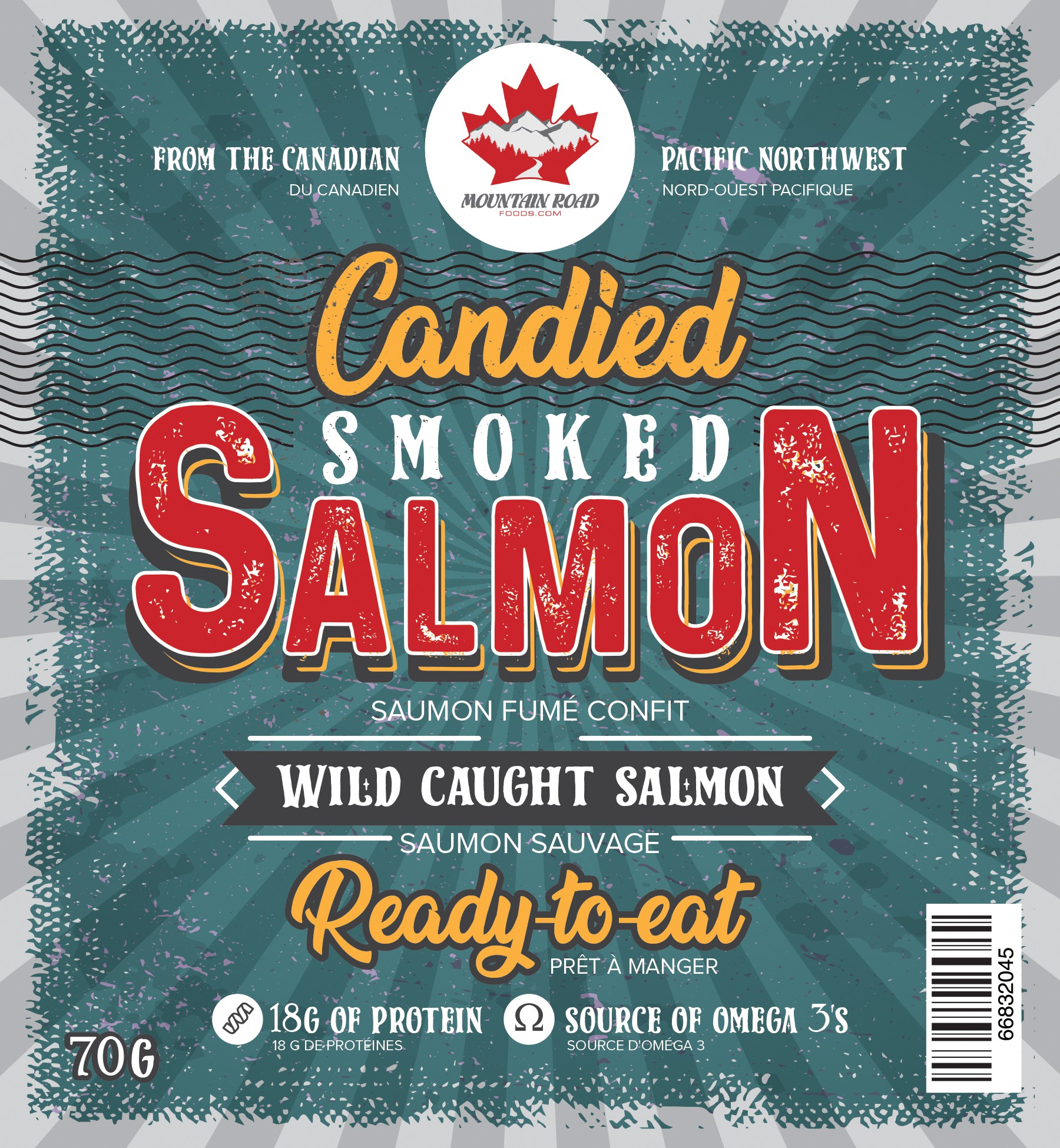 Heritage High end Smoked & Candied Salmon company needing a loud retro edge label