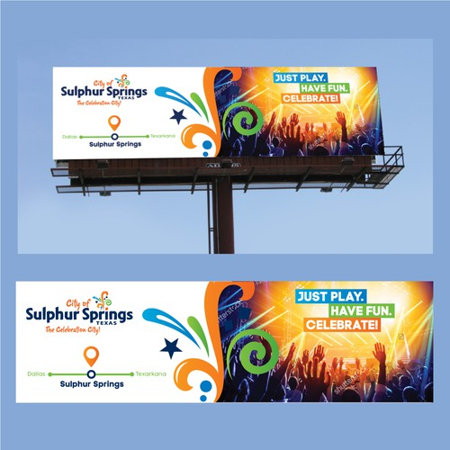 Billboard design for Sulphur Springs City
