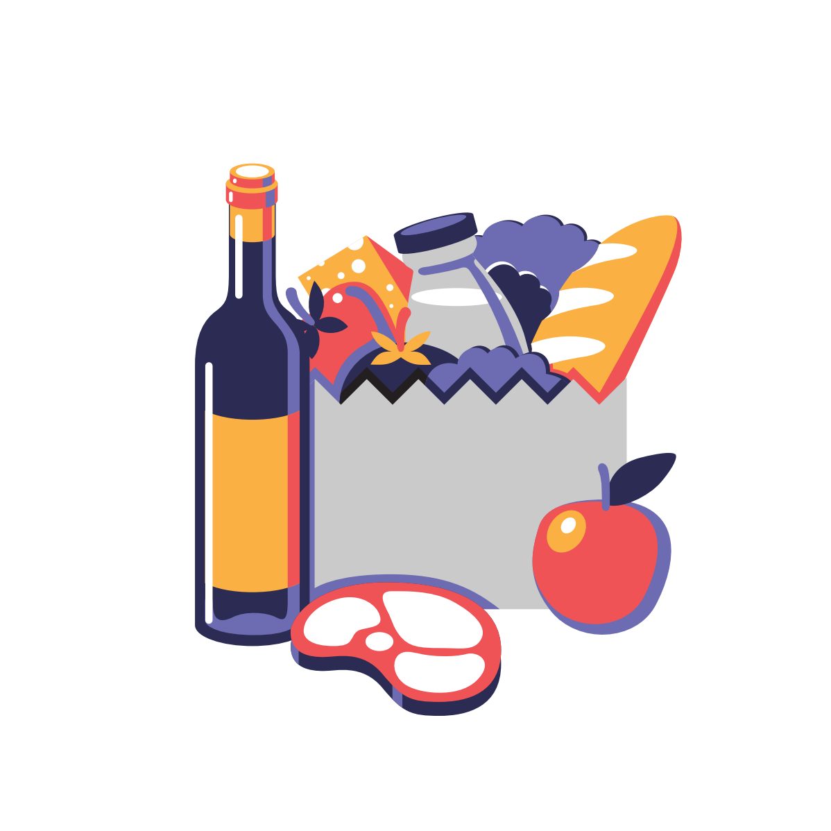 Icons and illustrations design