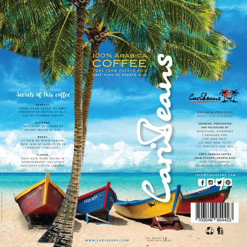 Puerto Rican Coffee Packaging Design