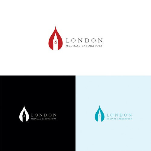 Negative space for blood research logo.