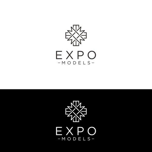 "EM "" Expo Models "" logo concept"