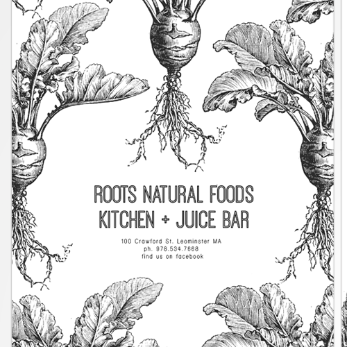 A Menu for Roots Natural Foods