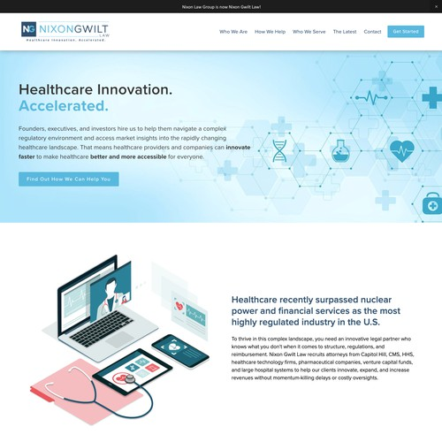 Innovative Clean Healthcare Design for Law Firm