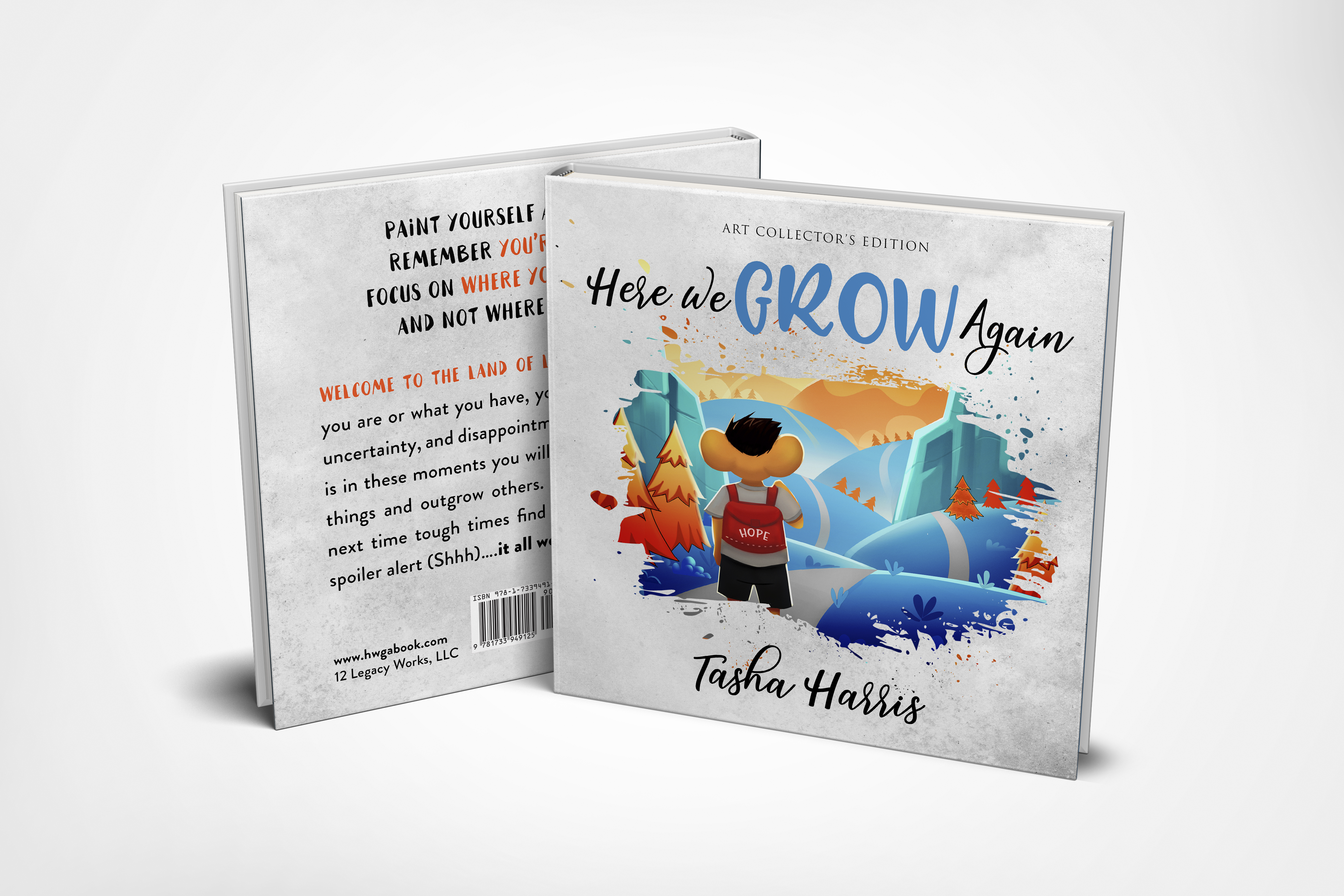 """""""Here We Grow Again"""" Book Cover Design"""