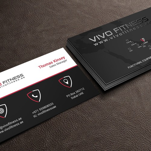 Business Card Design for Fitness supplier