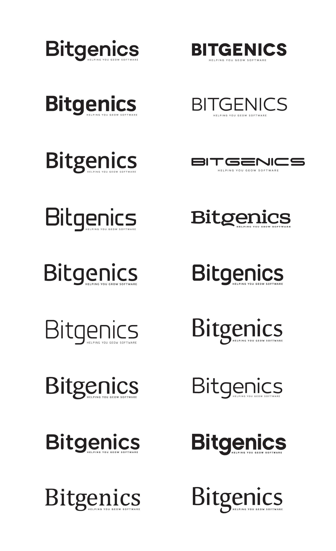 Design a logo for Bitgenics, a new technology startup.