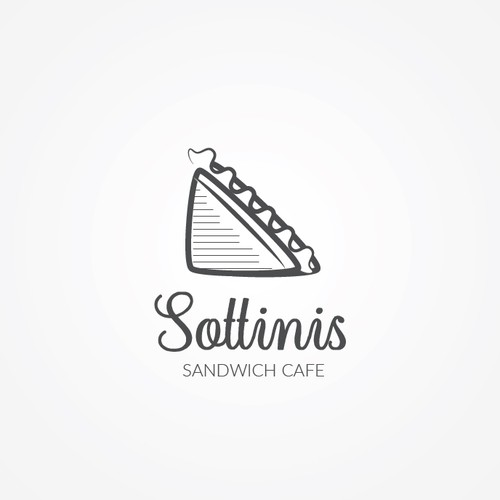 Simple & modern logo for Sottinis, a sandwich cafe