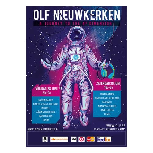 OLF Nieuwkerken music festival poster