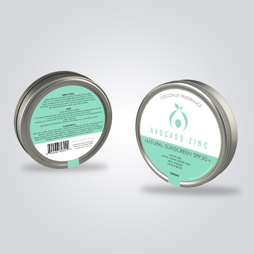 Label Zinc SPF 30+