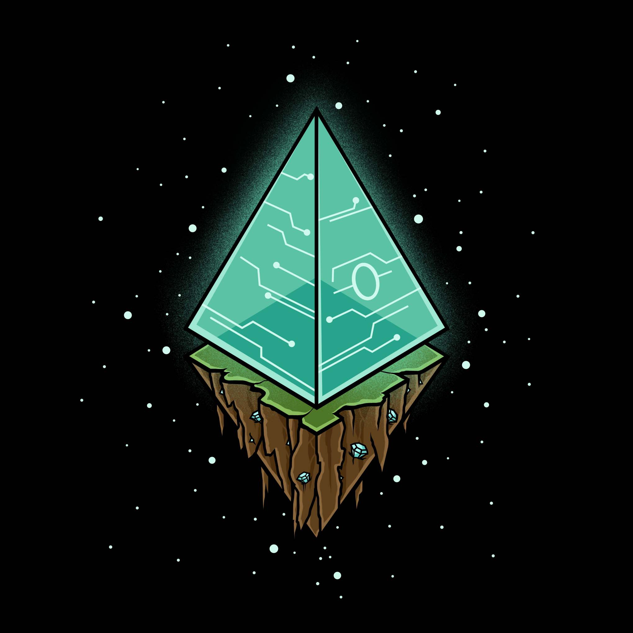 Design an Ethereum inspired t-shirt that appeals to crypto enthusiasts