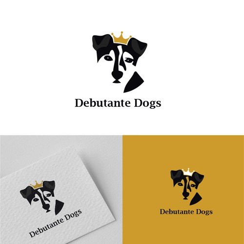 Playful, clean and fun logo for High End Dog accessories