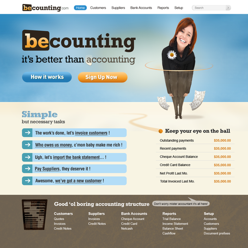 No more boring accounting with becounting.com
