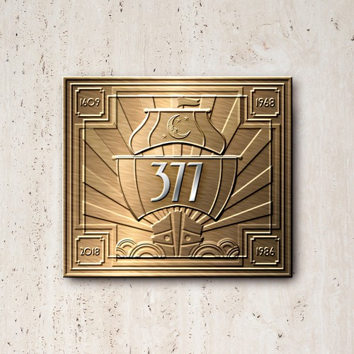 Luxury Condo Metal Plaque Celebrating Historic 1609 Henry Hudson Site
