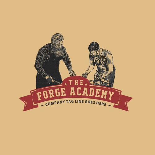 Vintage logo for The Forge Academy
