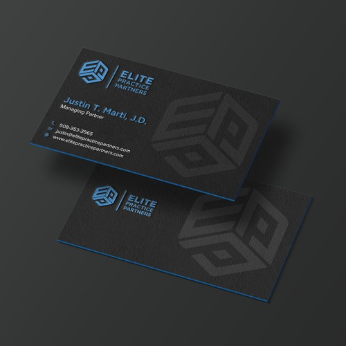 Business card design for Elite practice partners