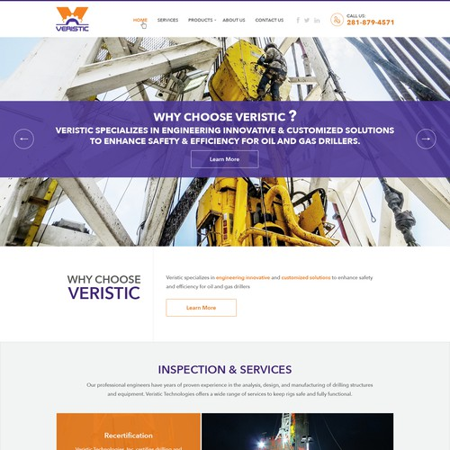 New design for an Oil Rigs Engineering firm