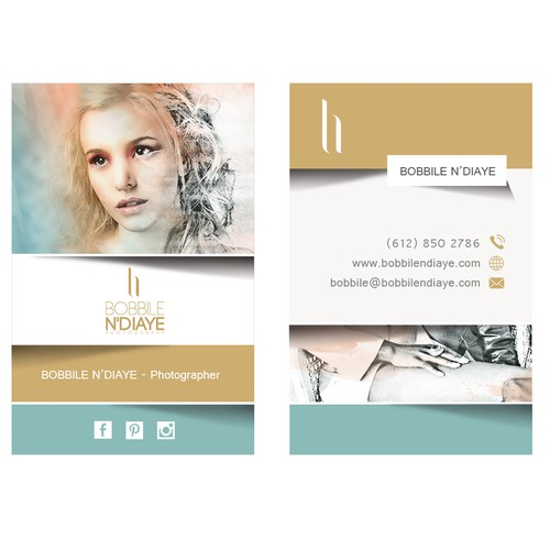 Business card for a fashion photographer