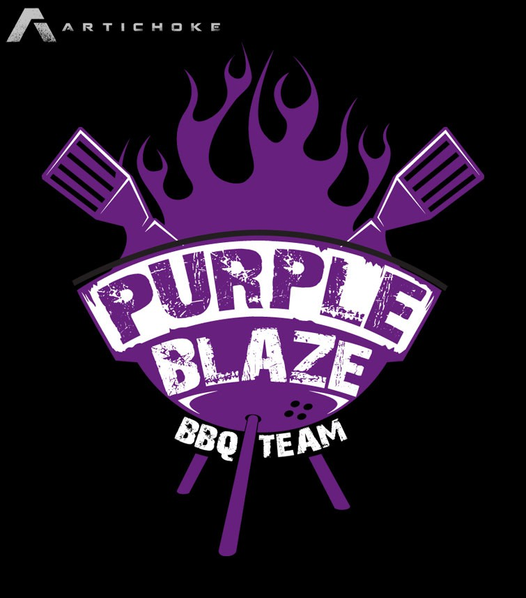 logo for Purple Blaze BBQ