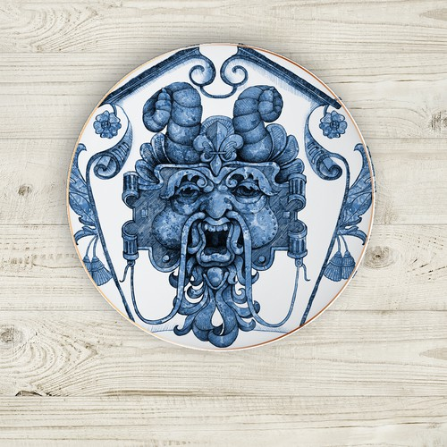 Baroque inspired dinnerware  design.