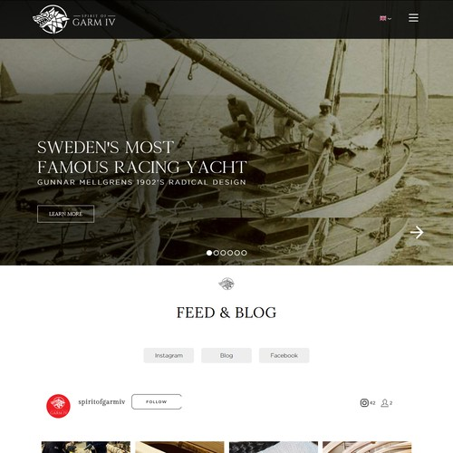 Website Blog design For yacht
