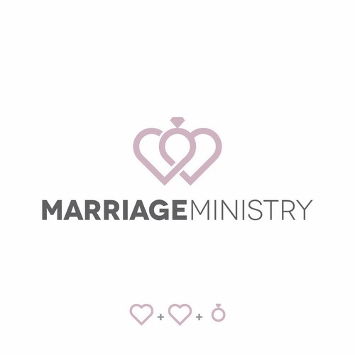 Clean logo design for a marriage ministry