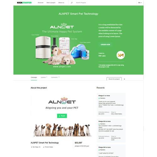 Kickstarter Page for ALNPET Smart Pet Technology