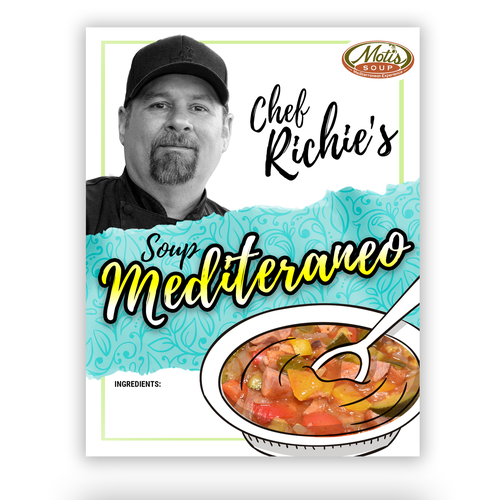 label design for food product