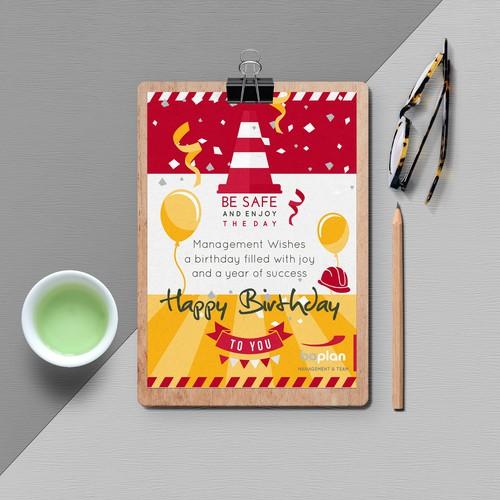Boplan corporate birthday celebration card