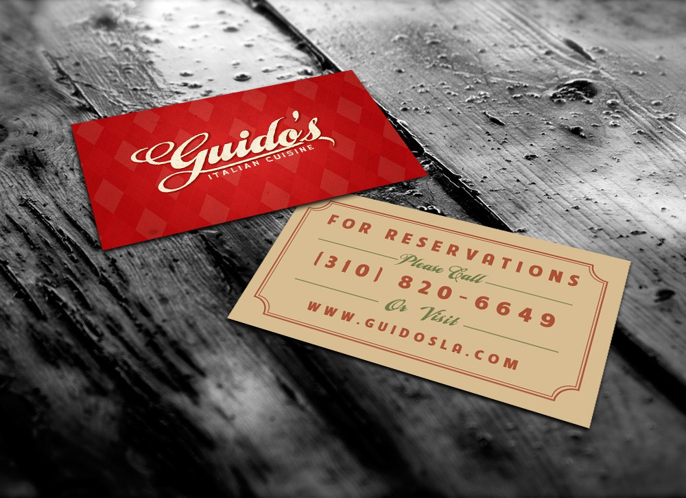 stationery for Guido's Restaurant, a classy, old school Italian joint