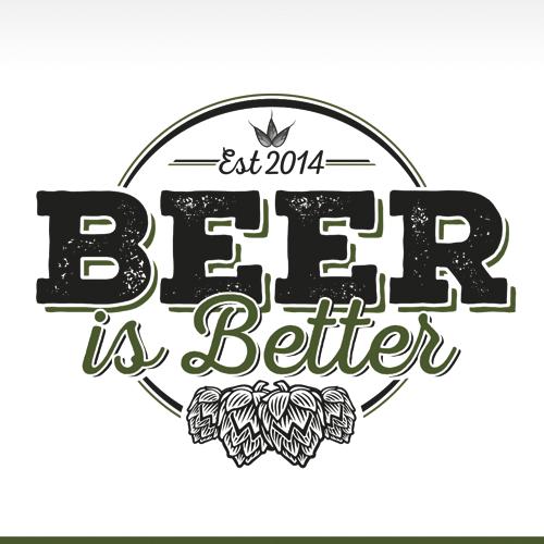 "Beer Is Better Apparel Brand Seeks ""Off the Wall"" Clean Vintage Logo"