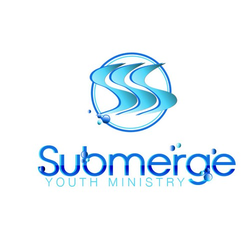 Create a sleek and modern logo that attracts young people to Submerge Youth Ministry