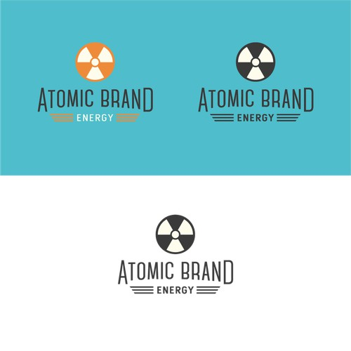 Retro Logo for Atomic Brand Energy
