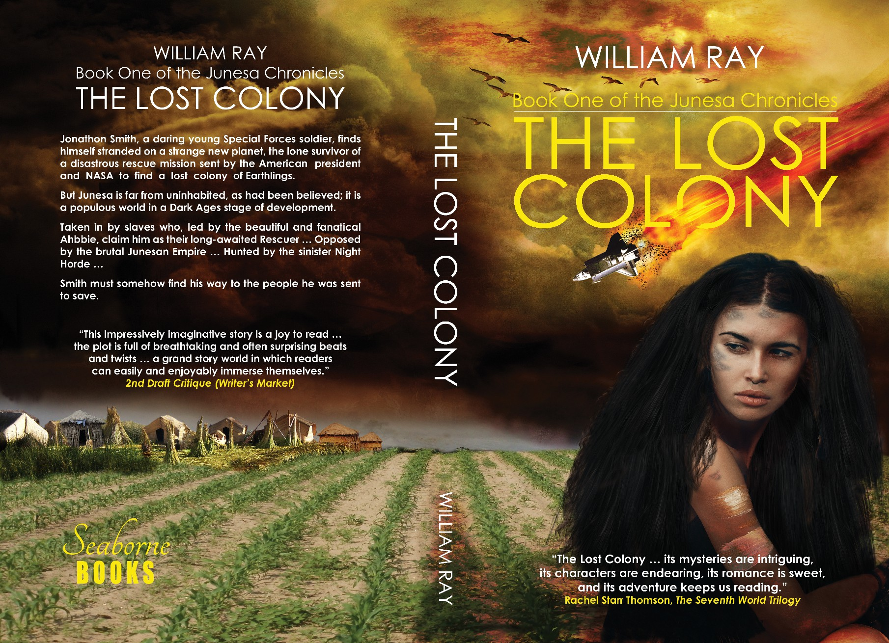 The Lost Colony - book and ebook cover for science fiction novel