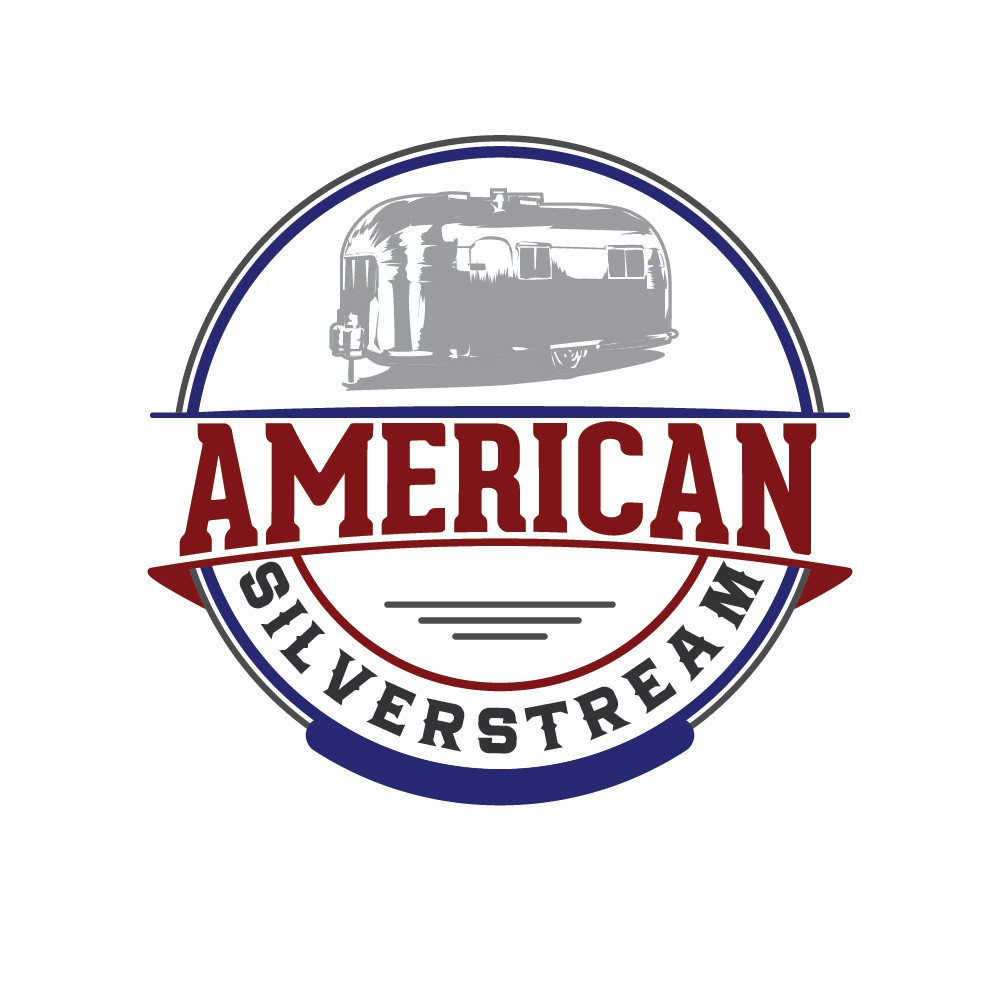 Create a classic, vintage logo for the icon airstream RV.