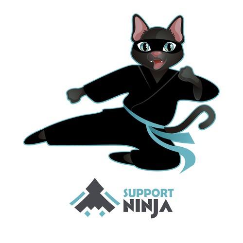 ninja cat mascot